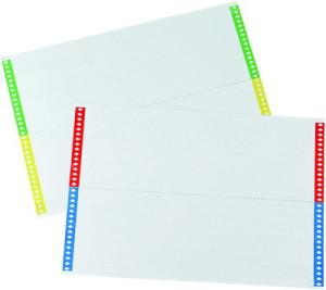 Index sheets for Vertical Carpetas Colgantes